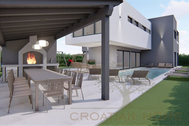 Moderne Villa mit beheiztem Pool nur 800 m vom Meer